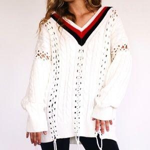 Asos sweater with fringe!!! ⚡️
